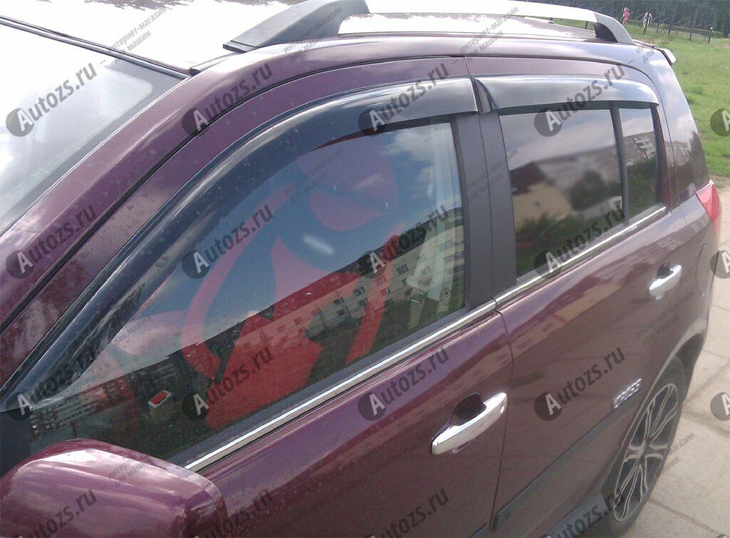 Дефлекторы боковых окон Geely MK CrossДефлекторы боковых окон<br>Дефлекторы боковых окон индивидуальны для каждого автомобиля. Продукция изготовлена с помощью точного компьютерного оборудования и новейших технологий. Дефлекторы окон блокируют сильный ветер, бурный поток во...<br>