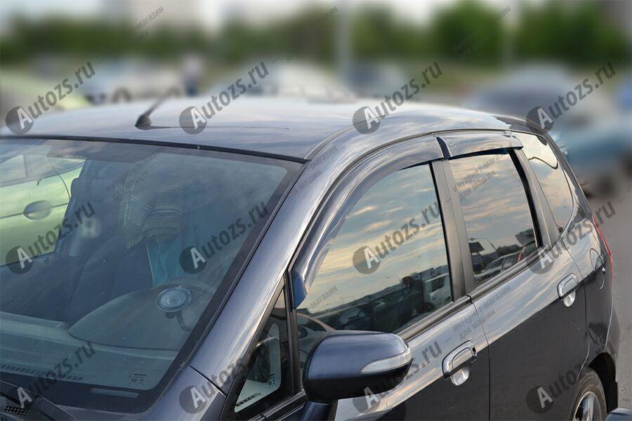 Дефлекторы боковых окон Honda Jazz II (2008-2010)Дефлекторы боковых окон<br>Дефлекторы боковых окон индивидуальны для каждого автомобиля. Продукция изготовлена с помощью точного компьютерного оборудования и новейших технологий. Дефлекторы окон блокируют сильный ветер, бурный поток во...<br>