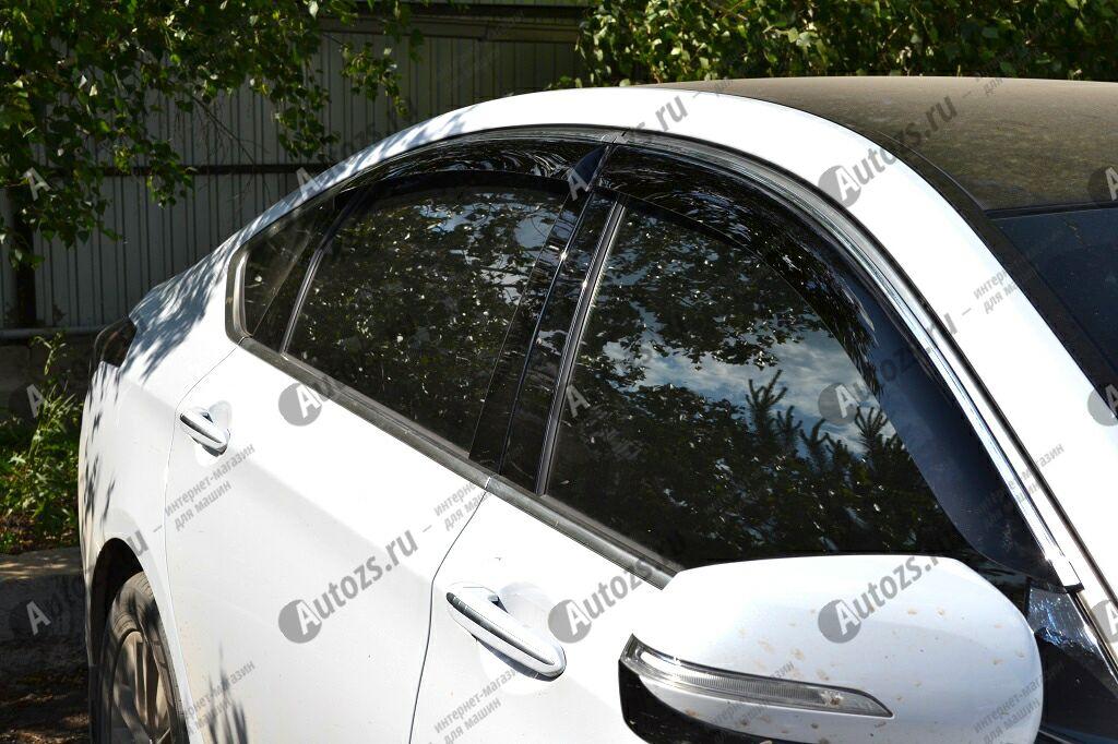 Дефлекторы боковых окон Hyundai Genesis II (2014+)Дефлекторы боковых окон<br>Дефлекторы боковых окон индивидуальны для каждого автомобиля. Продукция изготовлена с помощью точного компьютерного оборудования и новейших технологий. Дефлекторы окон блокируют сильный ветер, бурный поток во...<br>