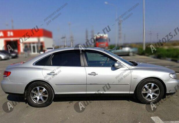 Дефлекторы боковых окон Hyundai Grandeur IV Рестайлинг (2009-2011)Дефлекторы боковых окон<br>Дефлекторы боковых окон индивидуальны для каждого автомобиля. Продукция изготовлена с помощью точного компьютерного оборудования и новейших технологий. Дефлекторы окон блокируют сильный ветер, бурный поток во...<br>