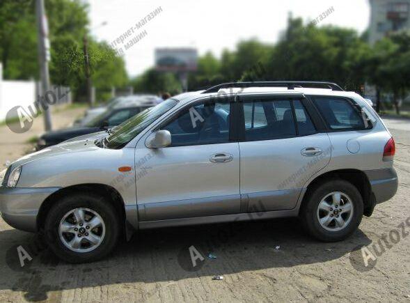 Дефлекторы боковых окон Hyundai Santa Fe I (2000-2012)Дефлекторы боковых окон<br>Дефлекторы боковых окон индивидуальны для каждого автомобиля. Продукция изготовлена с помощью точного компьютерного оборудования и новейших технологий. Дефлекторы окон блокируют сильный ветер, бурный поток во...<br>