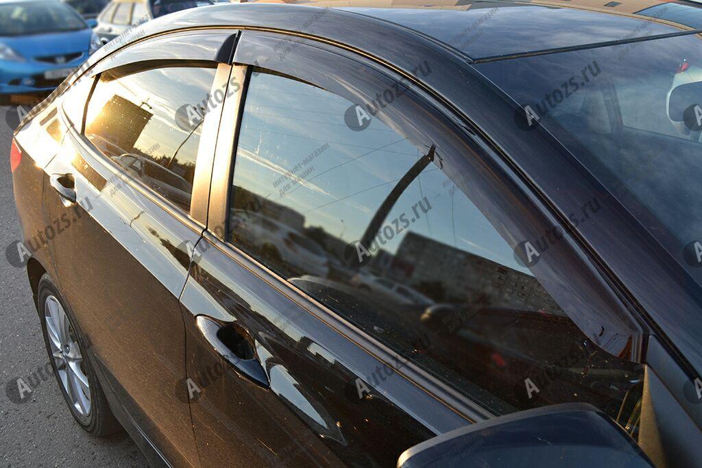 Дефлекторы боковых окон Hyundai Solaris I Седан (2011-2014)Дефлекторы боковых окон<br>Дефлекторы боковых окон индивидуальны для каждого автомобиля. Продукция изготовлена с помощью точного компьютерного оборудования и новейших технологий. Дефлекторы окон блокируют сильный ветер, бурный поток во...<br>