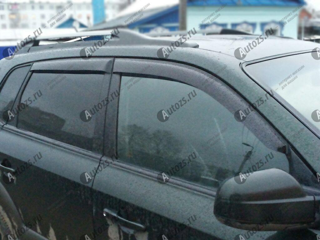Дефлекторы боковых окон Hyundai Tucson I (2004-2009)Дефлекторы боковых окон<br>Дефлекторы боковых окон индивидуальны для каждого автомобиля. Продукция изготовлена с помощью точного компьютерного оборудования и новейших технологий. Дефлекторы окон блокируют сильный ветер, бурный поток во...<br>