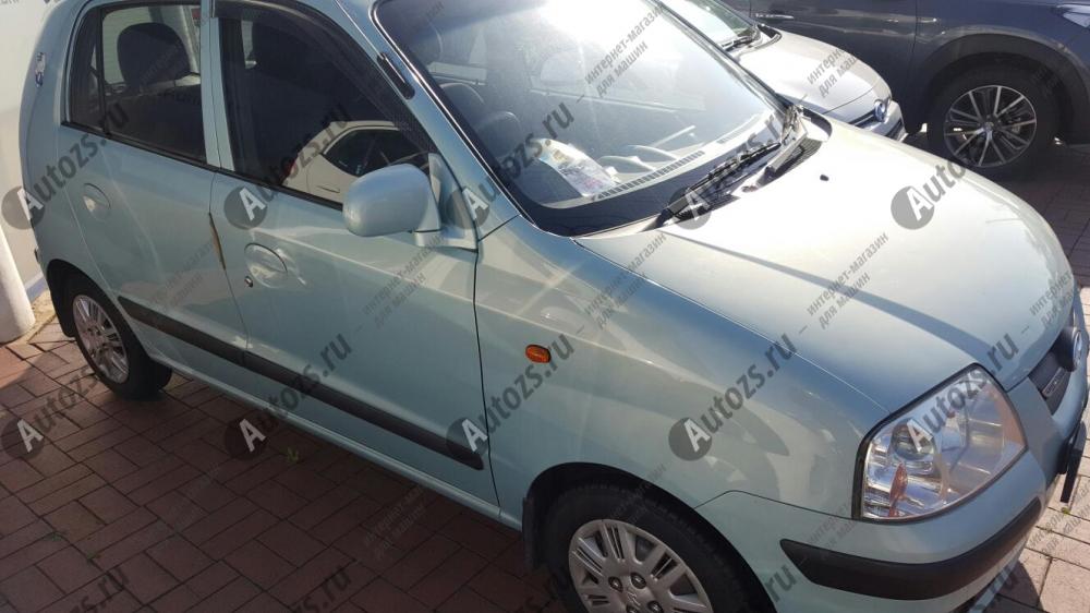 Дефлекторы боковых окон Hyundai AtosДефлекторы боковых окон<br>Дефлекторы боковых окон индивидуальны для каждого автомобиля. Продукция изготовлена с помощью точного компьютерного оборудования и новейших технологий. Дефлекторы окон блокируют сильный ветер, бурный поток во...<br>