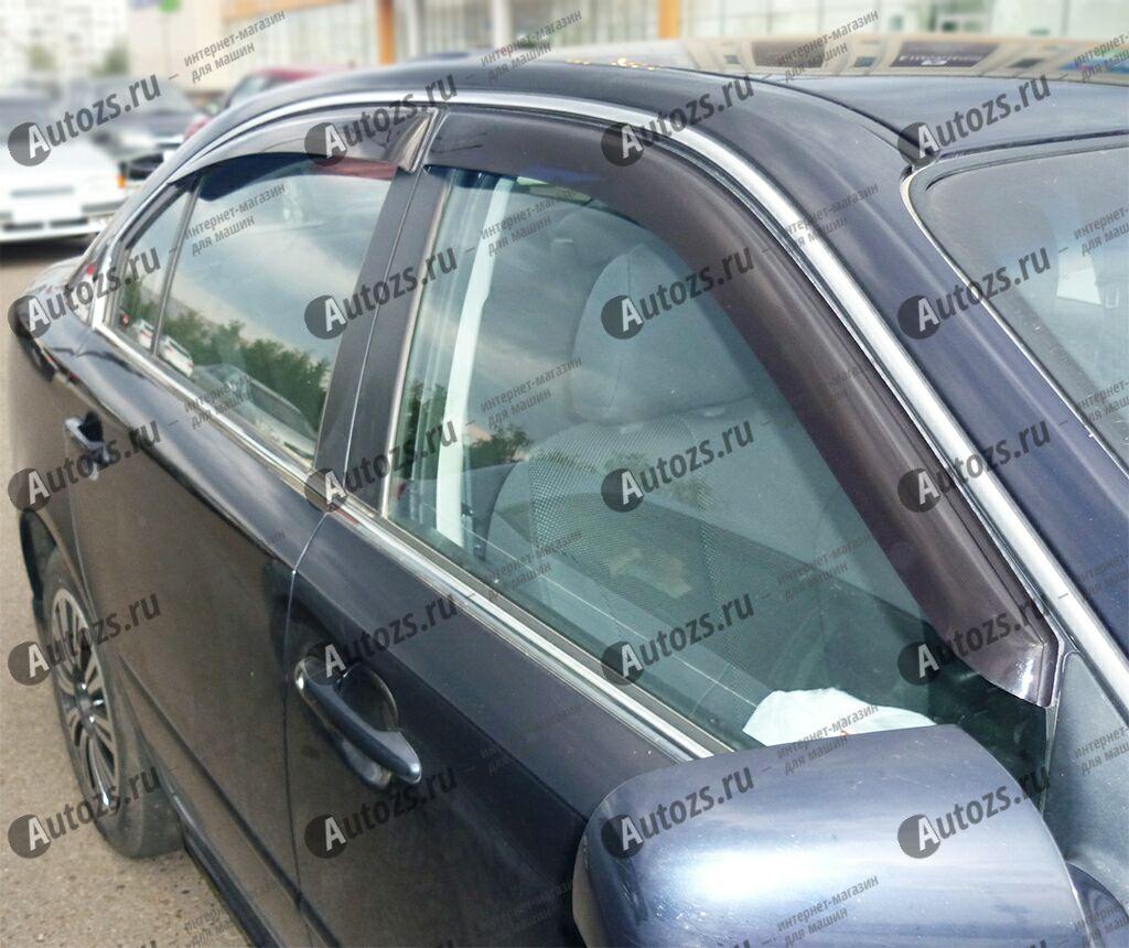 Дефлекторы боковых окон Kia Optima II (2005-2008)Дефлекторы боковых окон<br>Дефлекторы боковых окон индивидуальны для каждого автомобиля. Продукция изготовлена с помощью точного компьютерного оборудования и новейших технологий. Дефлекторы окон блокируют сильный ветер, бурный поток во...<br>