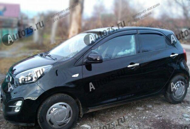 Купить Дефлекторы боковых окон Kia Picanto II Хэтчбек 5дв. (2011-2015)