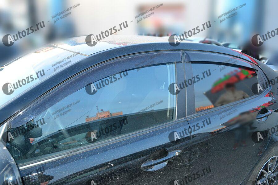 Дефлекторы боковых окон Kia Rio III Рестайлинг Седан (2015+)Дефлекторы боковых окон<br>Дефлекторы боковых окон индивидуальны для каждого автомобиля. Продукция изготовлена с помощью точного компьютерного оборудования и новейших технологий. Дефлекторы окон блокируют сильный ветер, бурный поток во...<br>