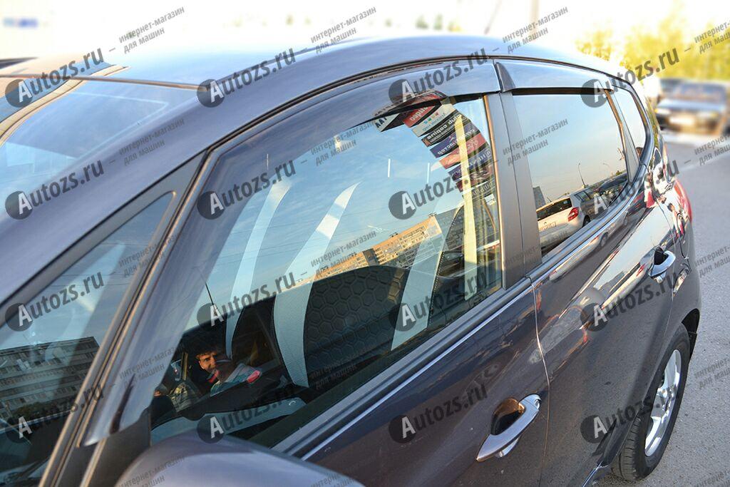 Дефлекторы боковых окон Kia Venga I Рестайлинг (2015+)Дефлекторы боковых окон<br>Дефлекторы боковых окон индивидуальны для каждого автомобиля. Продукция изготовлена с помощью точного компьютерного оборудования и новейших технологий. Дефлекторы окон блокируют сильный ветер, бурный поток во...<br>