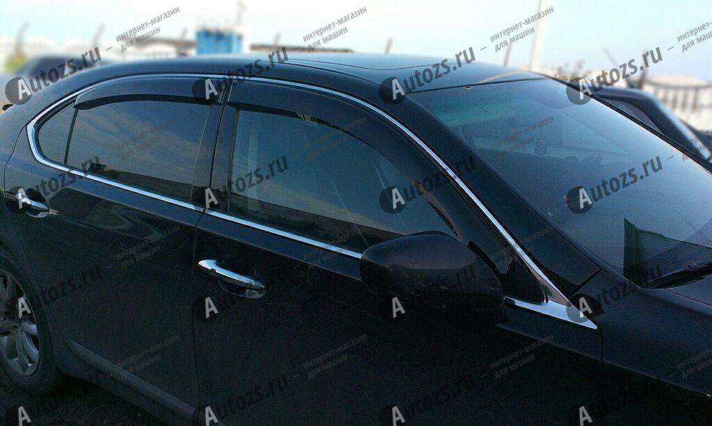 Дефлекторы боковых окон Lexus LS IV (2006-2012)Дефлекторы боковых окон<br>Дефлекторы боковых окон индивидуальны для каждого автомобиля. Продукция изготовлена с помощью точного компьютерного оборудования и новейших технологий. Дефлекторы окон блокируют сильный ветер, бурный поток во...<br>