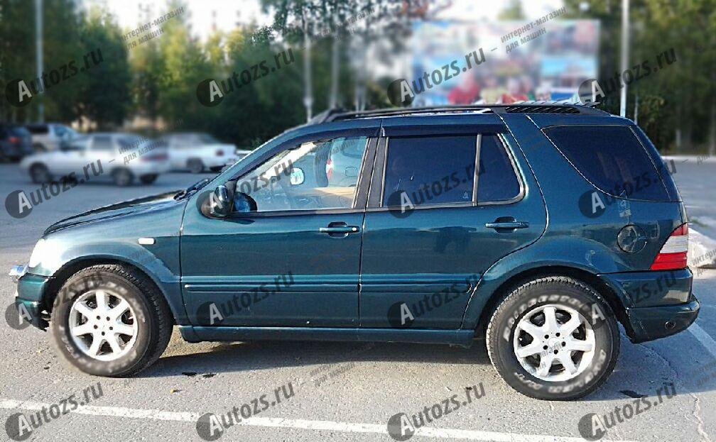 Дефлекторы боковых окон Mercedes-Benz M-klasse I (W163) Рестайлинг (2001-2005)Дефлекторы боковых окон<br>Дефлекторы боковых окон индивидуальны для каждого автомобиля. Продукция изготовлена с помощью точного компьютерного оборудования и новейших технологий. Дефлекторы окон блокируют сильный ветер, бурный поток во...<br>