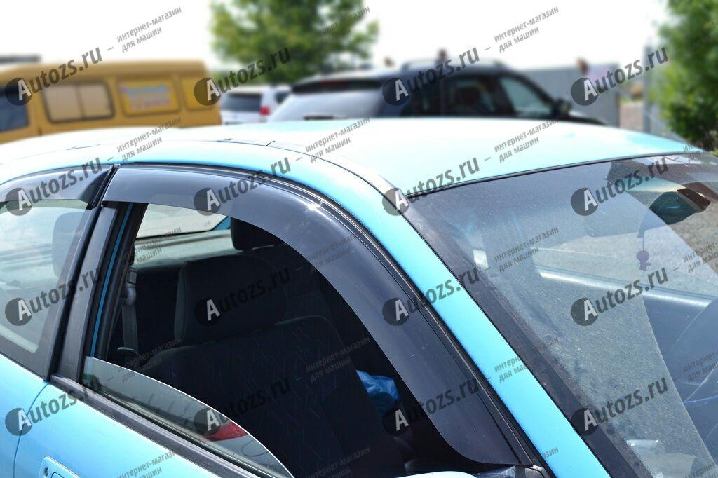 Дефлекторы боковых окон Mitsubishi Colt VI (1995-2003)Дефлекторы боковых окон<br>Дефлекторы боковых окон индивидуальны для каждого автомобиля. Продукция изготовлена с помощью точного компьютерного оборудования и новейших технологий. Дефлекторы окон блокируют сильный ветер, бурный поток во...<br>
