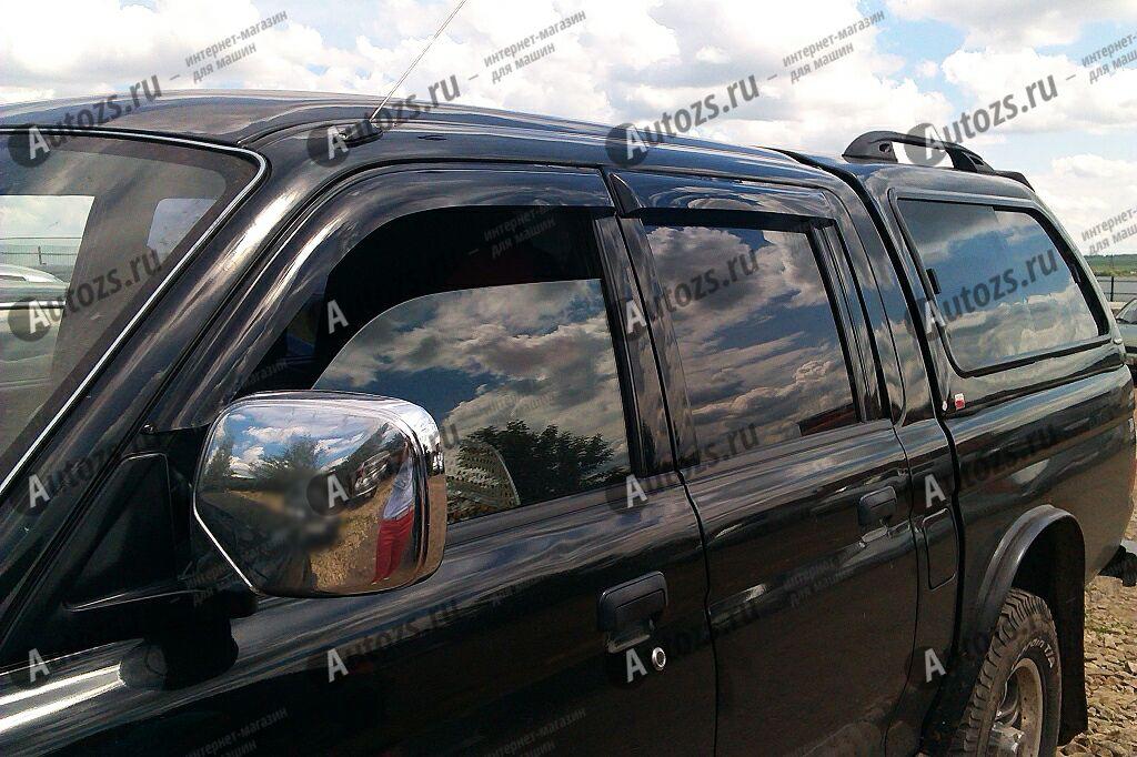 Дефлекторы боковых окон Mitsubishi L200 III Пикап Двойная кабина (1996-2006)Дефлекторы боковых окон<br>Дефлекторы боковых окон индивидуальны для каждого автомобиля. Продукция изготовлена с помощью точного компьютерного оборудования и новейших технологий. Дефлекторы окон блокируют сильный ветер, бурный поток во...<br>