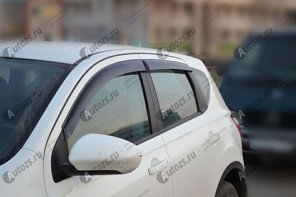Дефлекторы боковых окон Nissan Qashqai I Рестайлинг (2010-2013)Дефлекторы боковых окон<br>Дефлекторы боковых окон индивидуальны для каждого автомобиля. Продукция изготовлена с помощью точного компьютерного оборудования и новейших технологий. Дефлекторы окон блокируют сильный ветер, бурный поток во...<br>