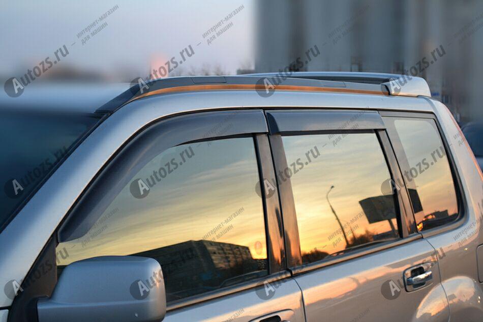 Дефлекторы боковых окон Nissan X-Trail I (T30) (2001-2007)Дефлекторы боковых окон<br>Дефлекторы боковых окон индивидуальны для каждого автомобиля. Продукция изготовлена с помощью точного компьютерного оборудования и новейших технологий. Дефлекторы окон блокируют сильный ветер, бурный поток во...<br>