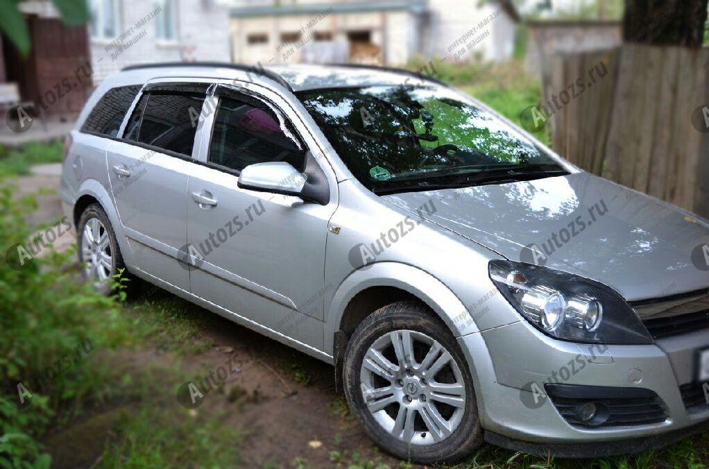 Дефлекторы боковых окон Opel Astra H Рестайлинг Универсал 5дв. (2005+)Дефлекторы боковых окон<br>Дефлекторы боковых окон индивидуальны для каждого автомобиля. Продукция изготовлена с помощью точного компьютерного оборудования и новейших технологий. Дефлекторы окон блокируют сильный ветер, бурный поток во...<br>