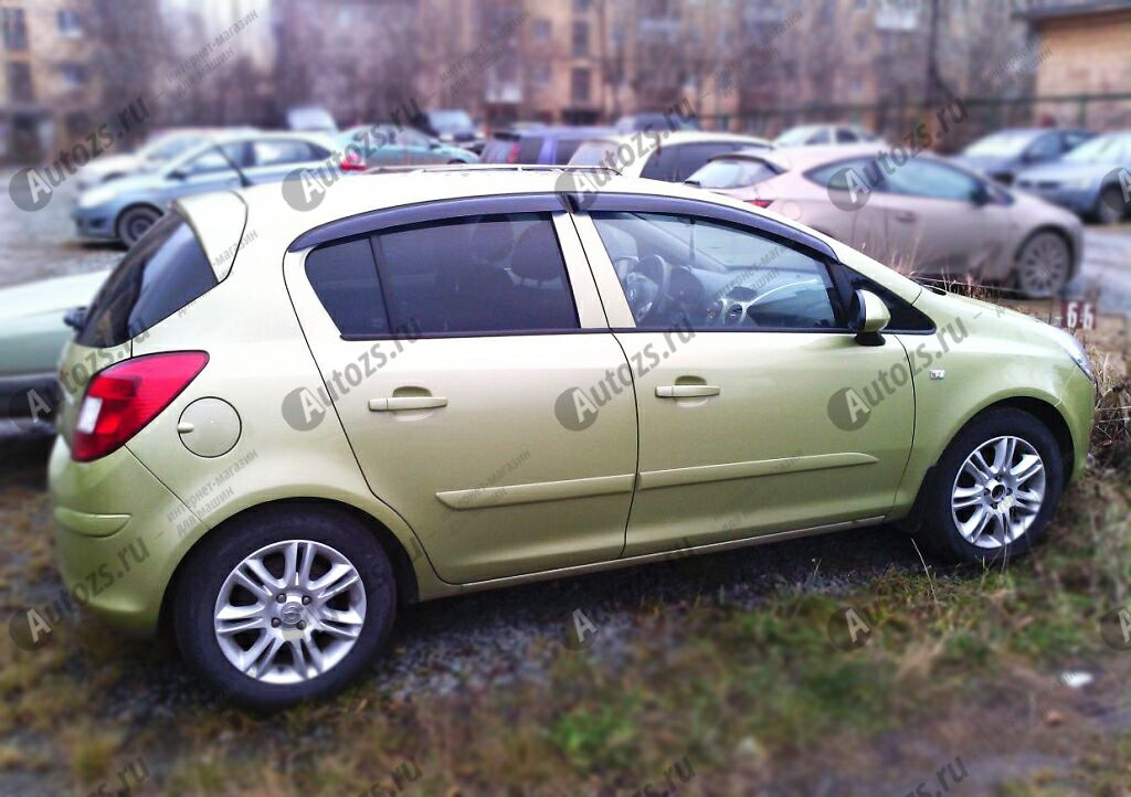 Купить Дефлекторы боковых окон Opel Corsa D Хэтчбек 5дв. (2006-2010)