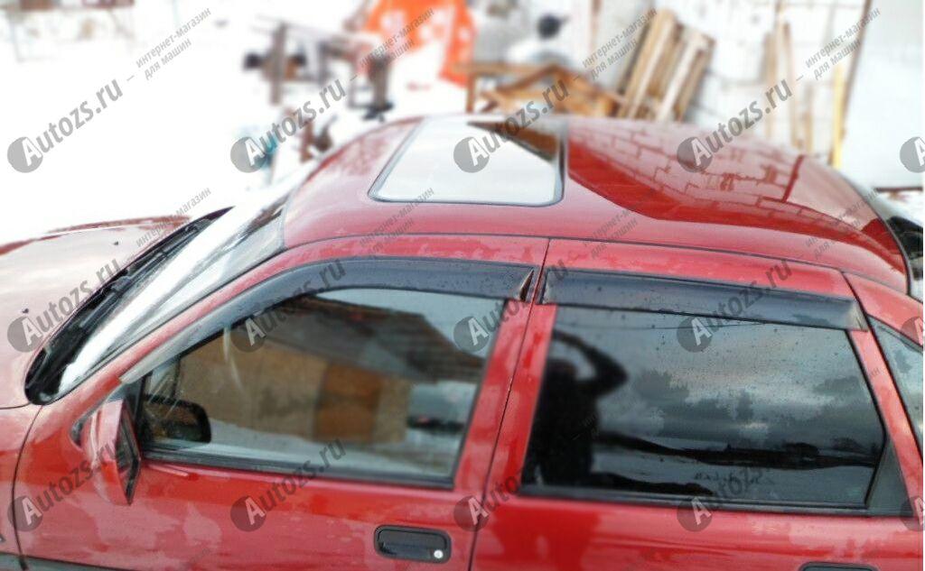 Дефлекторы боковых окон Opel Vectra A Седан (1988-1995)Дефлекторы боковых окон<br>Дефлекторы боковых окон индивидуальны для каждого автомобиля. Продукция изготовлена с помощью точного компьютерного оборудования и новейших технологий. Дефлекторы окон блокируют сильный ветер, бурный поток во...<br>
