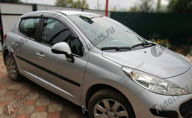 Дефлекторы боковых окон Peugeot 207Хэтчбек 5дв. (2006+)Дефлекторы боковых окон<br>Дефлекторы боковых окон индивидуальны для каждого автомобиля. Продукция изготовлена с помощью точного компьютерного оборудования и новейших технологий. Дефлекторы окон блокируют сильный ветер, бурный поток во...<br>