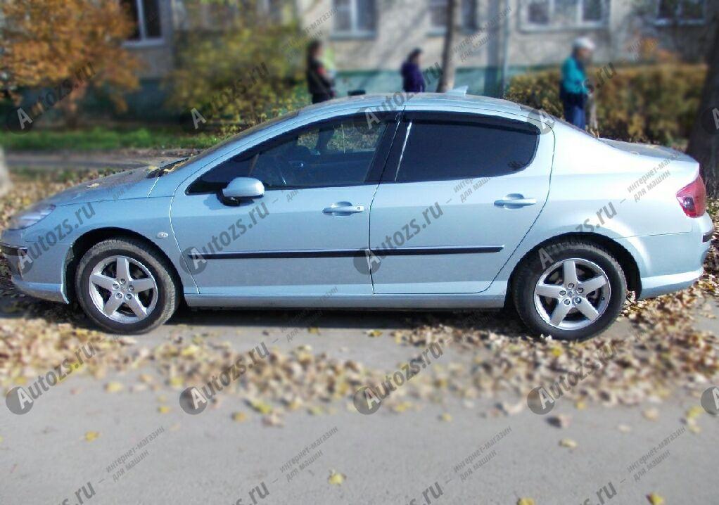 Дефлекторы боковых окон Peugeot 407Седан (2004-2010)Дефлекторы боковых окон<br>Дефлекторы боковых окон индивидуальны для каждого автомобиля. Продукция изготовлена с помощью точного компьютерного оборудования и новейших технологий. Дефлекторы окон блокируют сильный ветер, бурный поток во...<br>