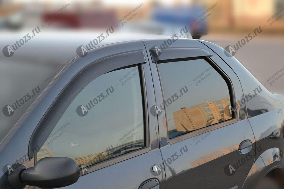 Дефлекторы боковых окон Renault Logan I (2004-2009)Дефлекторы боковых окон<br>Дефлекторы боковых окон индивидуальны для каждого автомобиля. Продукция изготовлена с помощью точного компьютерного оборудования и новейших технологий. Дефлекторы окон блокируют сильный ветер, бурный поток во...<br>