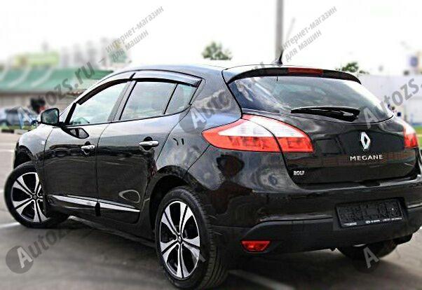 Купить Дефлекторы боковых окон Renault Megane III Рестайлинг Хэтчбек 5дв. (2012-2013)