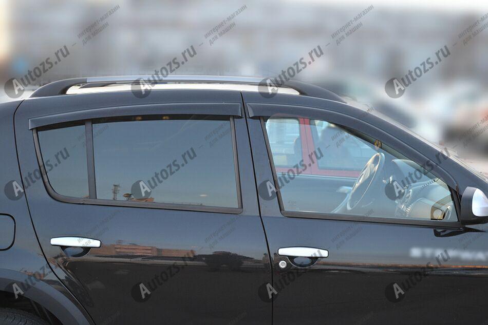 Дефлекторы боковых окон Renault Sandero I (2009-2014)Дефлекторы боковых окон<br>Дефлекторы боковых окон индивидуальны для каждого автомобиля. Продукция изготовлена с помощью точного компьютерного оборудования и новейших технологий. Дефлекторы окон блокируют сильный ветер, бурный поток во...<br>
