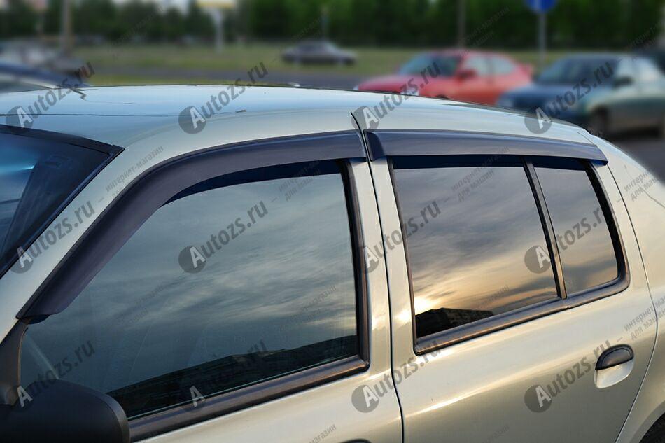 Дефлекторы боковых окон Renault Symbol I (1999-2002)Дефлекторы боковых окон<br>Дефлекторы боковых окон индивидуальны для каждого автомобиля. Продукция изготовлена с помощью точного компьютерного оборудования и новейших технологий. Дефлекторы окон блокируют сильный ветер, бурный поток во...<br>