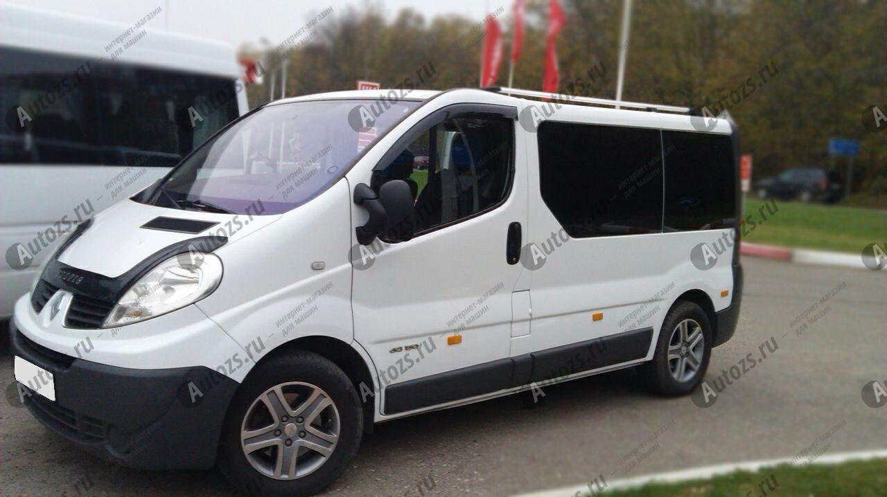 Дефлекторы боковых окон Renault Trafic II Рестайлинг (2006-2014)Дефлекторы боковых окон<br>Дефлекторы боковых окон индивидуальны для каждого автомобиля. Продукция изготовлена с помощью точного компьютерного оборудования и новейших технологий. Дефлекторы окон блокируют сильный ветер, бурный поток во...<br>
