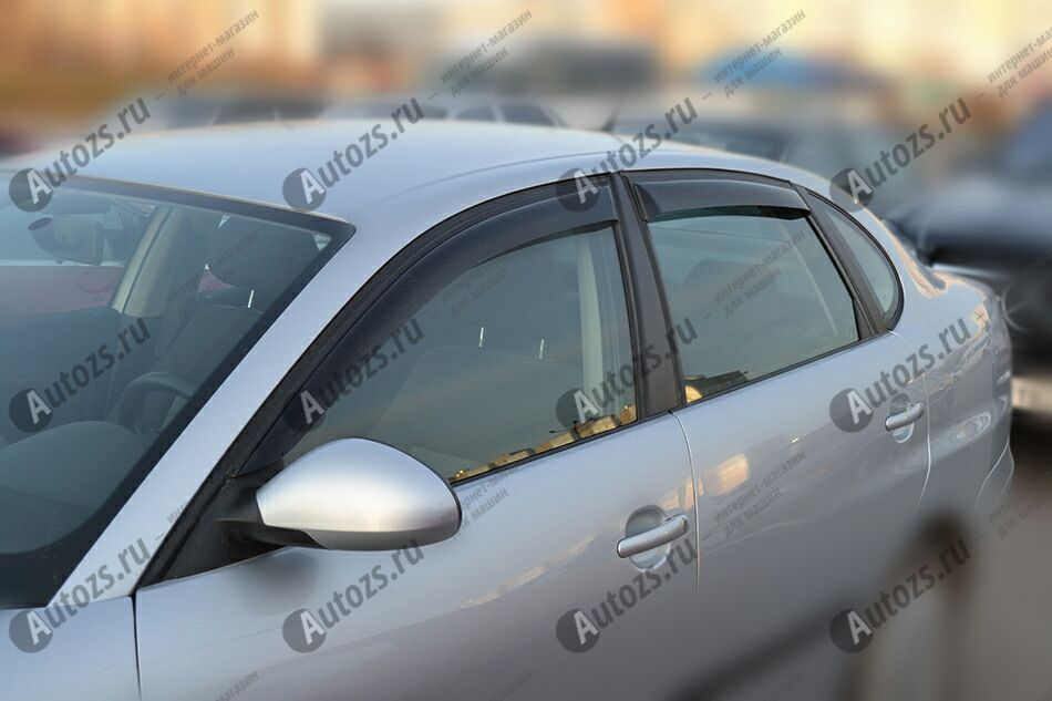 Дефлекторы боковых окон SEAT Cordoba II Рестайлинг (2006-2009)Дефлекторы боковых окон<br>Дефлекторы боковых окон индивидуальны для каждого автомобиля. Продукция изготовлена с помощью точного компьютерного оборудования и новейших технологий. Дефлекторы окон блокируют сильный ветер, бурный поток во...<br>