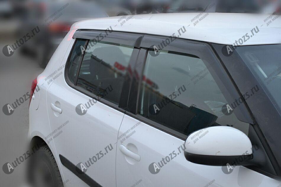 Дефлекторы боковых окон Skoda Fabia II Хэтчбек 5дв. (2007-2010)Дефлекторы боковых окон<br>Дефлекторы боковых окон индивидуальны для каждого автомобиля. Продукция изготовлена с помощью точного компьютерного оборудования и новейших технологий. Дефлекторы окон блокируют сильный ветер, бурный поток во...<br>