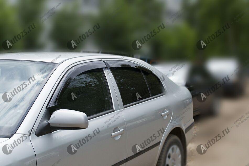 Дефлекторы боковых окон Skoda Octavia Tour Рестайлинг (2000-2011)Дефлекторы боковых окон<br>Дефлекторы боковых окон индивидуальны для каждого автомобиля. Продукция изготовлена с помощью точного компьютерного оборудования и новейших технологий. Дефлекторы окон блокируют сильный ветер, бурный поток во...<br>