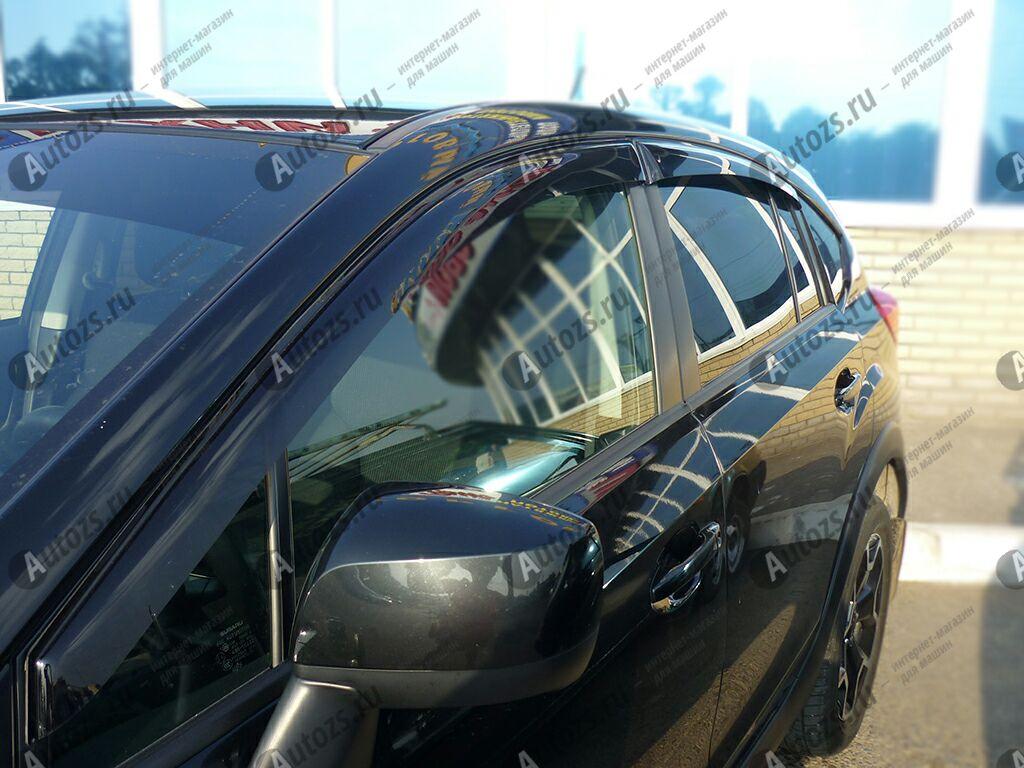 Дефлекторы боковых окон Subaru XV I Рестайлинг (2016+)Дефлекторы боковых окон<br>Дефлекторы боковых окон индивидуальны для каждого автомобиля. Продукция изготовлена с помощью точного компьютерного оборудования и новейших технологий. Дефлекторы окон блокируют сильный ветер, бурный поток во...<br>