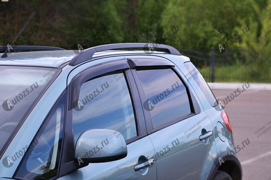 Дефлекторы боковых окон Suzuki SX4 I (Classic) Хэтчбек 5дв. (2006-2009)Дефлекторы боковых окон<br>Дефлекторы боковых окон индивидуальны для каждого автомобиля. Продукция изготовлена с помощью точного компьютерного оборудования и новейших технологий. Дефлекторы окон блокируют сильный ветер, бурный поток во...<br>