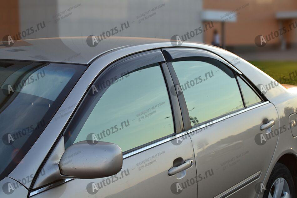 Дефлекторы боковых окон Toyota Camry V (XV30) (2001-2006)Дефлекторы боковых окон<br>Дефлекторы боковых окон индивидуальны для каждого автомобиля. Продукция изготовлена с помощью точного компьютерного оборудования и новейших технологий. Дефлекторы окон блокируют сильный ветер, бурный поток во...<br>