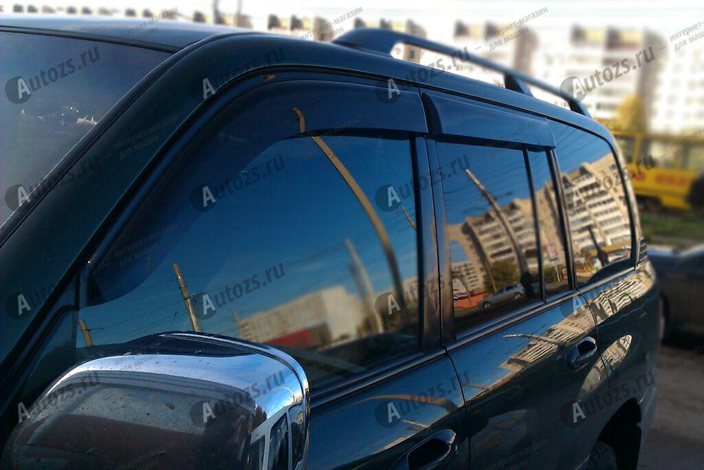 Дефлекторы боковых окон Toyota Land Cruiser 100Series Рестайлинг (2002-2007)Дефлекторы боковых окон<br>Дефлекторы боковых окон индивидуальны для каждого автомобиля. Продукция изготовлена с помощью точного компьютерного оборудования и новейших технологий. Дефлекторы окон блокируют сильный ветер, бурный поток во...<br>
