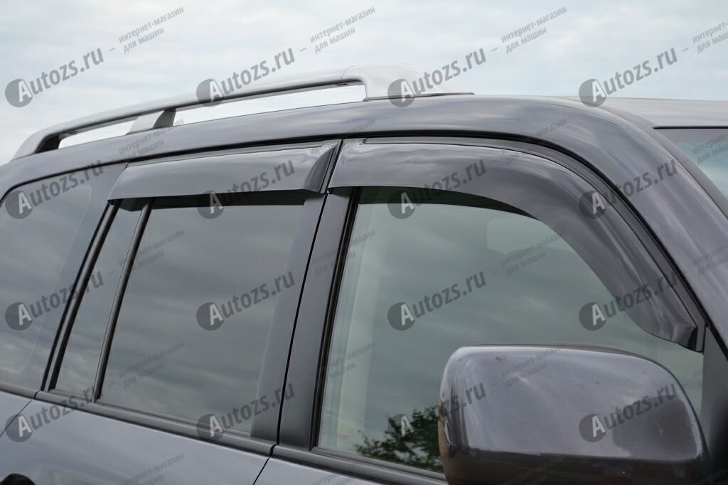 Дефлекторы боковых окон Toyota Land Cruiser 200Series (2007-2012)Дефлекторы боковых окон<br>Дефлекторы боковых окон индивидуальны для каждого автомобиля. Продукция изготовлена с помощью точного компьютерного оборудования и новейших технологий. Дефлекторы окон блокируют сильный ветер, бурный поток во...<br>