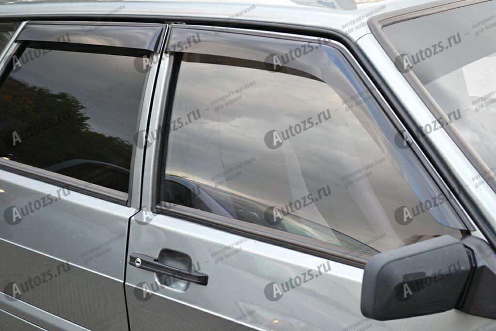 Дефлекторы боковых окон ВАЗ (Lada) 21099Дефлекторы боковых окон<br>Дефлекторы боковых окон индивидуальны для каждого автомобиля. Продукция изготовлена с помощью точного компьютерного оборудования и новейших технологий. Дефлекторы окон блокируют сильный ветер, бурный поток во...<br>