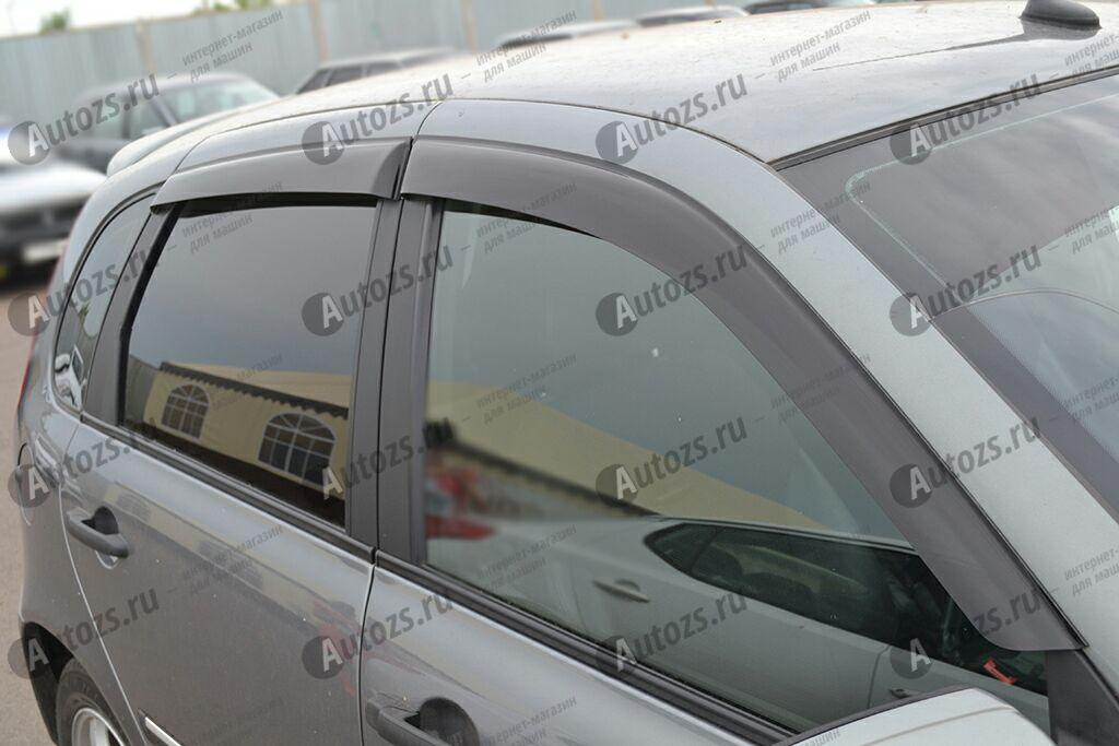 Дефлекторы боковых окон ВАЗ (Lada) Kalina I Хэтчбек 5дв. (2004-2013)Дефлекторы боковых окон<br>Дефлекторы боковых окон индивидуальны для каждого автомобиля. Продукция изготовлена с помощью точного компьютерного оборудования и новейших технологий. Дефлекторы окон блокируют сильный ветер, бурный поток во...<br>