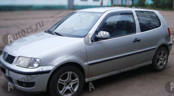 Дефлекторы боковых окон Volkswagen Polo III Рестайлинг Хэтчбек 3дв. (1999-2001)Дефлекторы боковых окон<br>Дефлекторы боковых окон индивидуальны для каждого автомобиля. Продукция изготовлена с помощью точного компьютерного оборудования и новейших технологий. Дефлекторы окон блокируют сильный ветер, бурный поток во...<br>