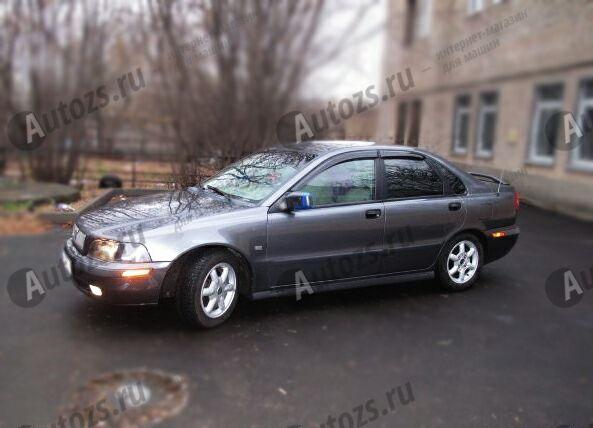 Дефлекторы боковых окон Volvo S40 I Рестайлинг (1999-2004)Дефлекторы боковых окон<br>Дефлекторы боковых окон индивидуальны для каждого автомобиля. Продукция изготовлена с помощью точного компьютерного оборудования и новейших технологий. Дефлекторы окон блокируют сильный ветер, бурный поток во...<br>