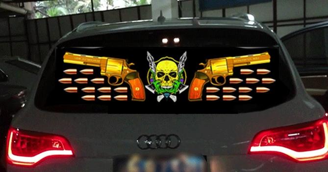 """Эквалайзер """"Череп и пистолеты"""" (90x30 см)"""
