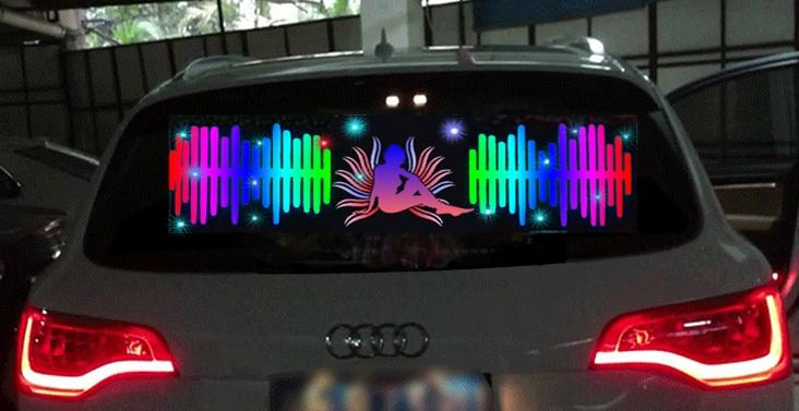 Эквалайзер Девушка и график (90x30 см)Эквалайзеры<br>Хотите выделяться на дороге? Стремитесь, чтобы ваш автомобиль был узнаваем?<br><br>Установленный эквалайзер на стекло реагирует цветными огнями в такт музыки и это ещё один шаг к эффектному лайт-тюнингу автомобиля. Если...<br>