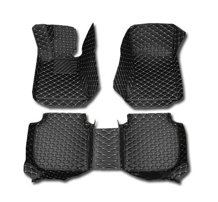 Кожаные коврики для Mitsubishi Pajero Sport II (2008-2013)Автомобильные кожаные коврики<br>Черные...<br>