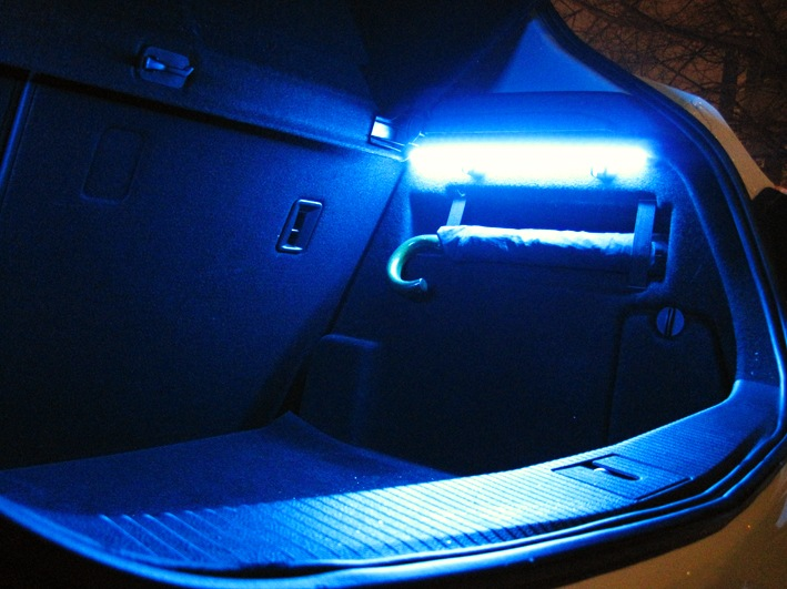 Подсветка багажника своими руками фото