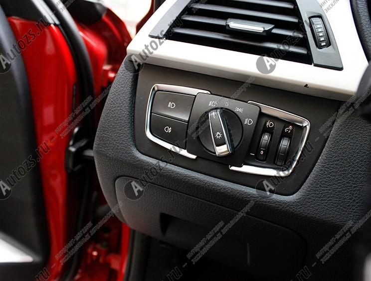 Декоративная накладка на левую консоль салона BMW 3 F30, F31, F34 2011+