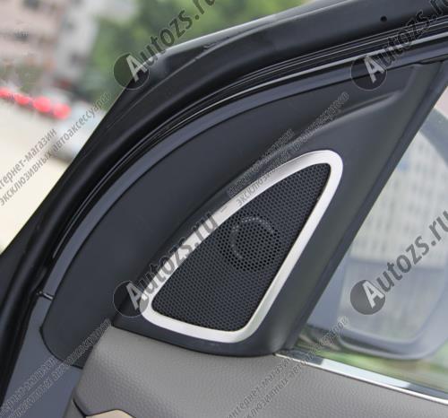 Купить со скидкой Декоративные накладки на дверные динамики Hyundai ix35 2010+