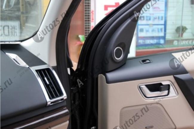 Декоративные накладки на дверные динамики Land Rover Freelander 2 2006-2015Хромированные накладки Land Rover Freelander<br>Декоратинвные молдинги используются для украшения панели приборов, салона и т.д.<br><br>Простая и легкая установка (все в комплекте):<br><br><br>Очистить поверхность, куда будут устанавливаться накладки.<br><br>Снять скочт с накла...<br>