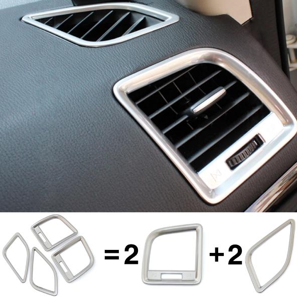 Купить со скидкой Декоративные накладки для боковых отверстий обдува салона Mazda CX-5 1 2011+