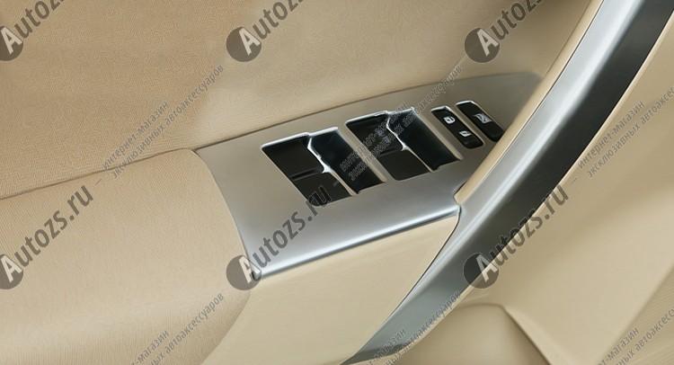 Декоративные накладки для панели стеклоподъемника Toyota Corolla E160 2013+