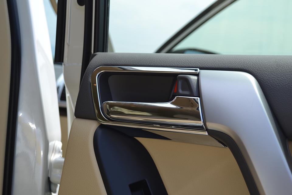 Купить со скидкой Декоративные накладки для ручек салона Toyota Land Cruiser Prado 150 2009+